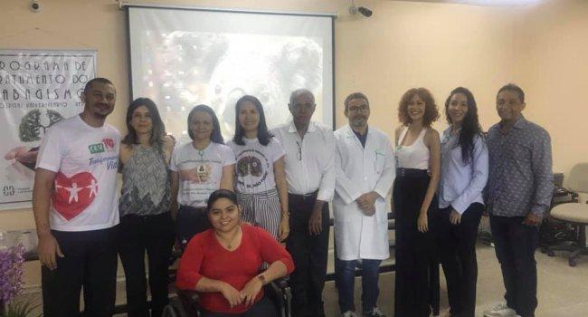 Paratleta do Ceir fala sobre superação em atividade do Programa de Tratamento ao Tabagismo da UFPI