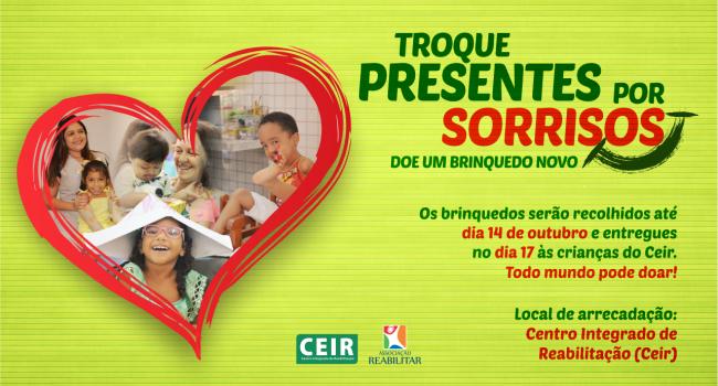 Ceir faz campanha de doação de brinquedos para o Dia das Crianças