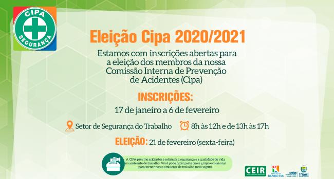 Abertas inscrições para eleição da Comissão Interna de Prevenção de Acidentes
